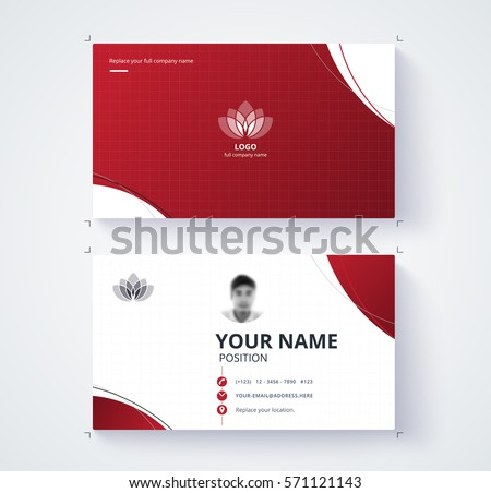 Red business card template sample logo stock vector royalty free red business card template with sample logo design vector card flashek Gallery