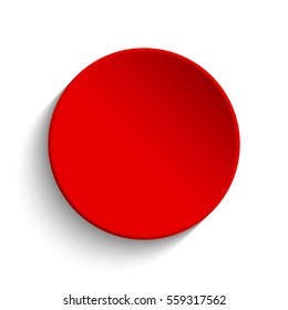 Red button on white background