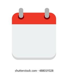 Red calendar.Vector calendar Icon