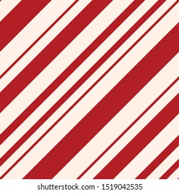 Red Candy Cane Stripes Seamless Pattern