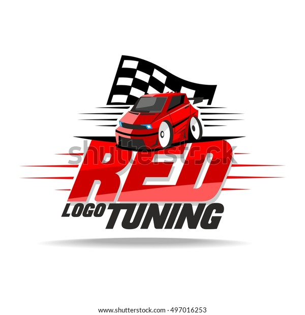 Red Car Tuning Logo Stock Vector (Royalty Free) 497016253