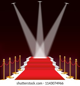 Red carpet for celebrities, concept of success and triumph,EPS10.