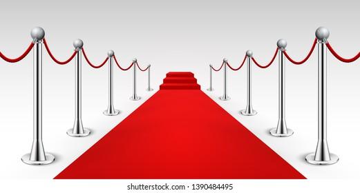 Red carpet celebrity background entrance. Hollywood fame event vip red carpet.