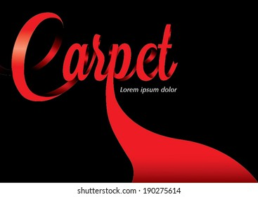 Red carpet design template