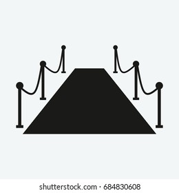 red carpet event icon vector