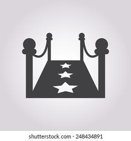Red carpet icon.