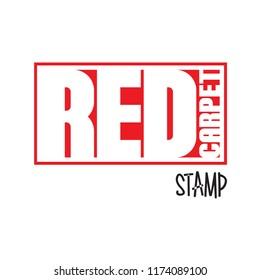Red Carpet Logo Stamp Vector