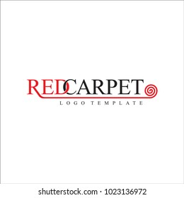 Red Carpet Luxurious Event Concepts Logo Template Vector