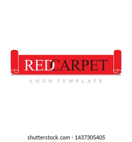 Red Carpet Luxurious Event Concepts Simple Logo Template Vector
