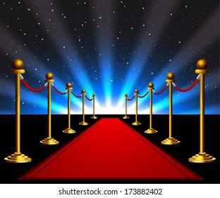 Red carpet to the movie stars