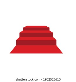 red carpet upstairs vector illustration design template web