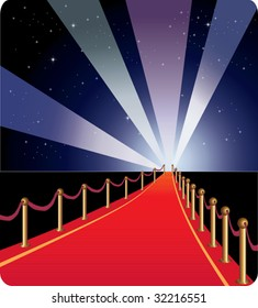 Red carpet - vector.