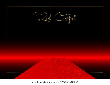 red carpet vector background Hollywood luxury and elegant red carpet event in perspective illustration. Red color carpet for celebrity, Success and stars prestige event vector concept for entrance vip