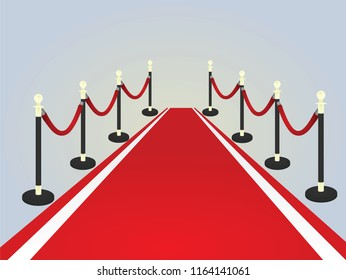 Red carpet. vector illustration