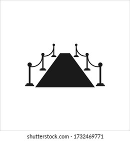 red carpet way or catwalk celebrity show simple flat vector illustration template
