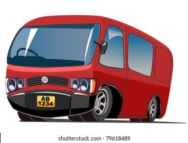 red cartoon van