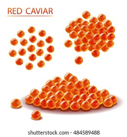 Red Caviar vector illustration. Sea food.