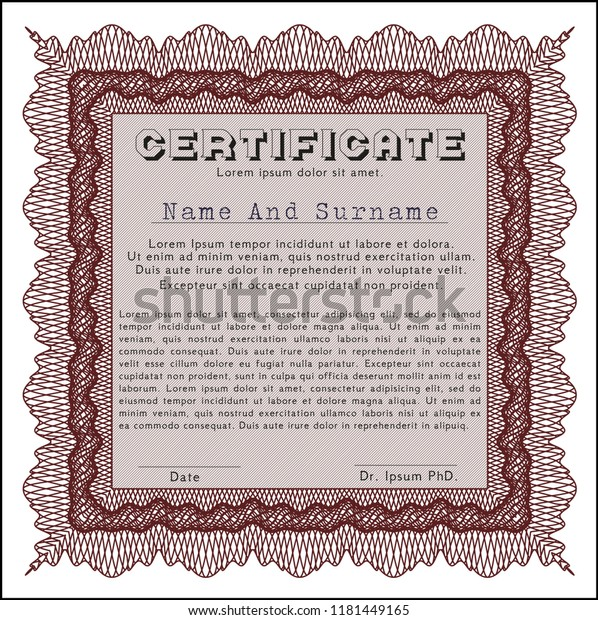 Free Diploma Template from image.shutterstock.com