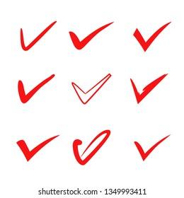 red check mark set