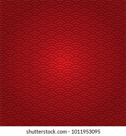 red Chinese, Japanese wave pattern vector design background