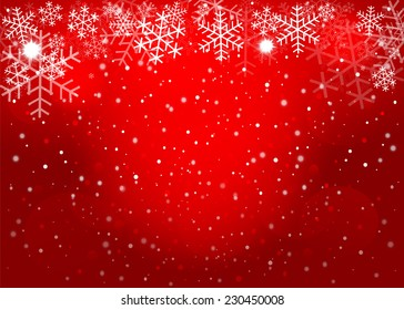 Red Christmas background. Vector EPS10.