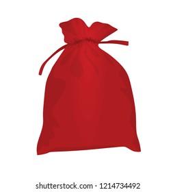 Red christmas bag. vector illustration