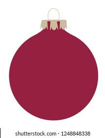 a red christmas ball