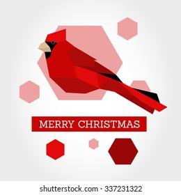 red christmas bird. christmas concept