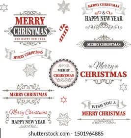red christmas design vintage design vector illustration
