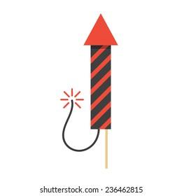 Red Rocket Icon Firework Rocket...