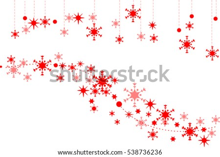 Red Christmas Snowflake Banner Stock Vector Royalty Free 538736236