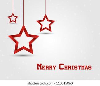 red christmas stars. christmas concept.