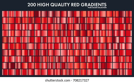 Red chrome gradient set,pattern,template.Love,heart colors for design,collection of high quality gradients.Metallic texture,shiny metal background.Suitable for text ,mockup,banner, ribbon