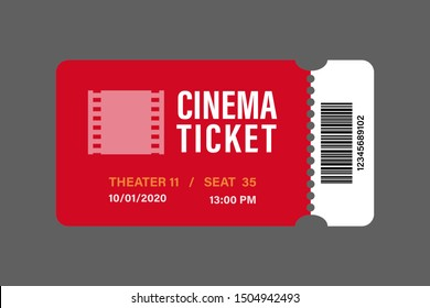 red cinema tickets icon vector illustration designed in the flat style.