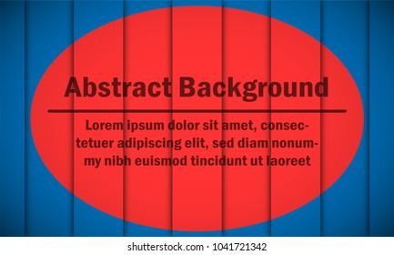 Red circle design template backdrop on Blue background in Paper cut stripes concept for Abstract background graphic idea