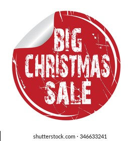 "red circle grunge sticker ""big Christmas sale"""
