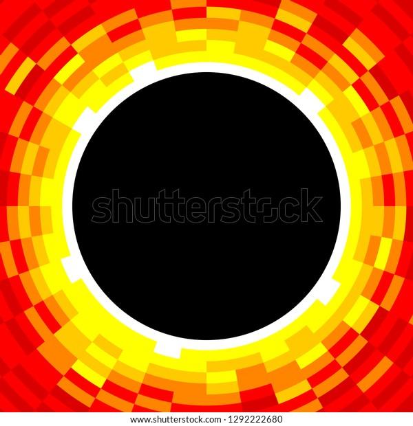 Red Circular Eclipse / Vortex, EPS8 Vector