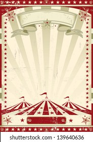 Red circus retro. A circus vintage poster for your advertising