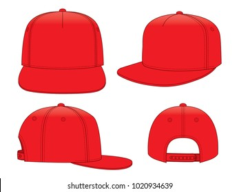 Red Classic Hip Hop cap & snap back