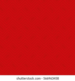 Red Classic seamless pattern. Neutral tileable linear vector background.