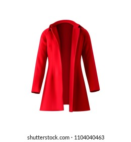 Red coat. Vector illustration.