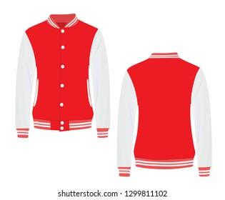 Red college jacket. vector illustration