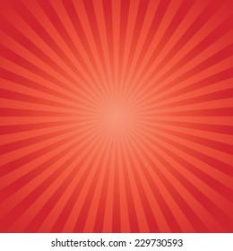 red color burst background. Vector illustration