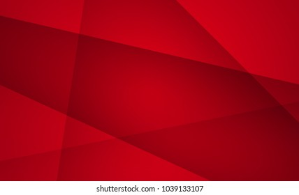 Red color geometric background abstract art vector. Abstract graphic element.