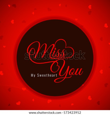 Red color miss you greeting card stock vector royalty free red color miss you greeting card m4hsunfo
