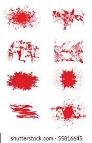 Red color paint spashes