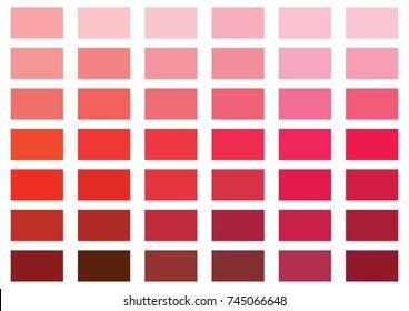 Red color palette vector illustration