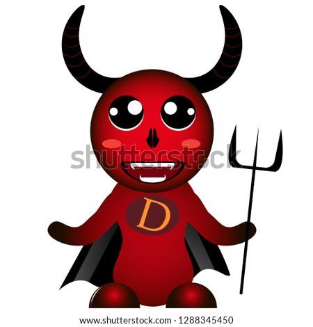 Red colorful devil diablo