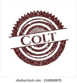 Red Colt distress rubber grunge stamp