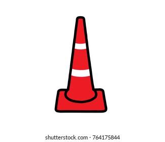 Red Cone Road Block icon.